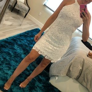 Lulus love poem ivory lace dress